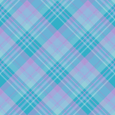 Seamless pattern in interesting cozy blue and light violet colors for plaid, fabric, textile, clothes, tablecloth and other things. Vector image. Illusztráció