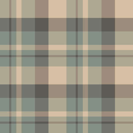 Seamless pattern in fascinating swamp gray and beige colors for plaid, fabric, textile, clothes, tablecloth and other things. Vector image. 일러스트