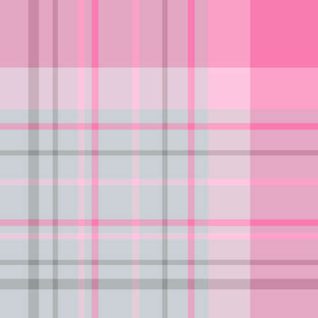 Seamless pattern in fascinating cold gray and pink colors for plaid, fabric, textile, clothes, tablecloth and other things. Vector image.