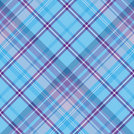 Seamless pattern in beautiful blue and violet colors for plaid, fabric, textile, clothes, tablecloth and other things. Vector image. 2 Векторная Иллюстрация