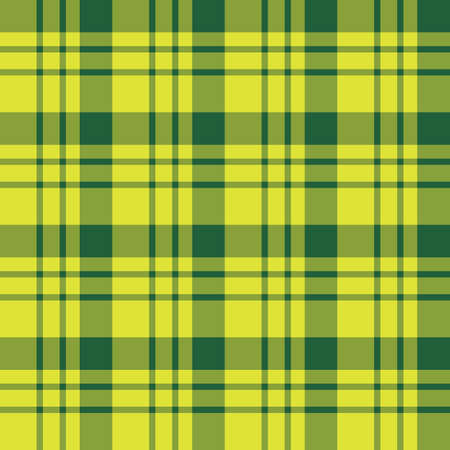 Seamless pattern in magnificent bright yellow and dark green colors for plaid, fabric, textile, clothes, tablecloth and other things. Vector image.