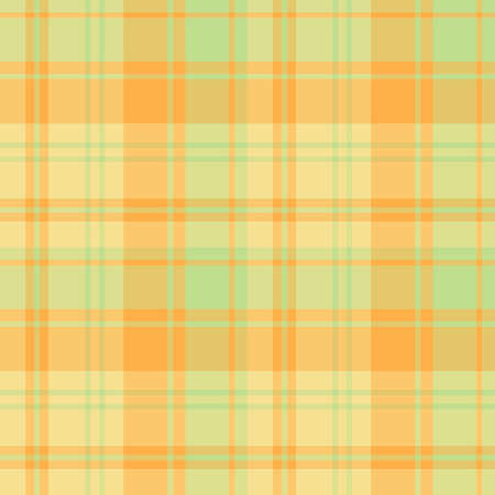 Seamless pattern in exquisite summer yellow, orange and green colors for plaid, fabric, textile, clothes, tablecloth and other things. Vector image.