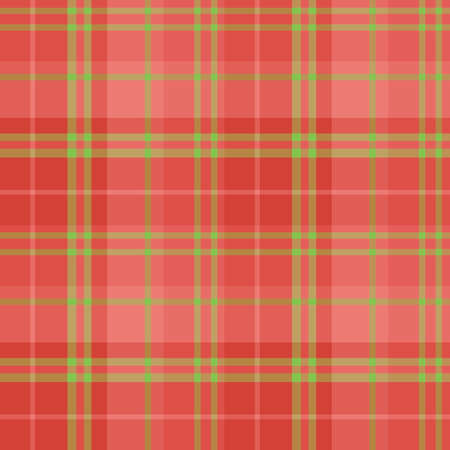 Seamless pattern in fascinating cute christmas red and green colors for plaid, fabric, textile, clothes, tablecloth and other things. Vector image.