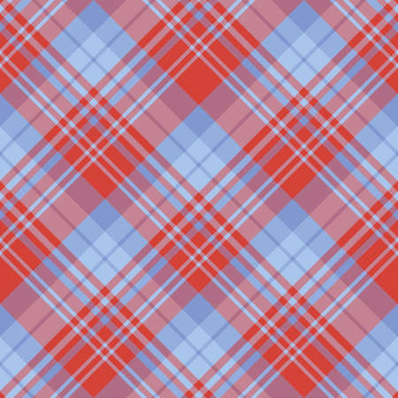 Seamless pattern in interesting red and discreet blue colors for plaid, fabric, textile, clothes, tablecloth and other things. Vector image. 2