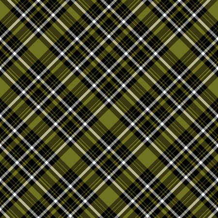 Seamless pattern in simple swamp green, black and white colors for plaid, fabric, textile, clothes, tablecloth and other things. Vector image. 2