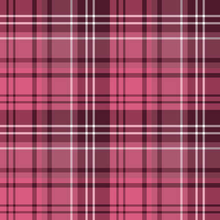 Seamless pattern in wonderful dark pink colors for plaid, fabric, textile, clothes, tablecloth and other things. Vector image.