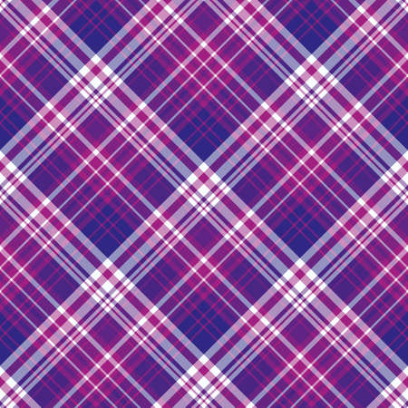 Seamless pattern in bright violet, purple and white colors for plaid, fabric, textile, clothes, tablecloth and other things. Vector image. 2