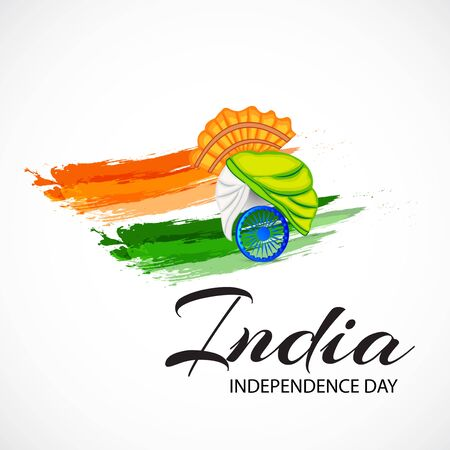 Vector illustration of a Background or Poster for Celebrate Indian Freedom Day of 15th August India Happy Independence Day.
