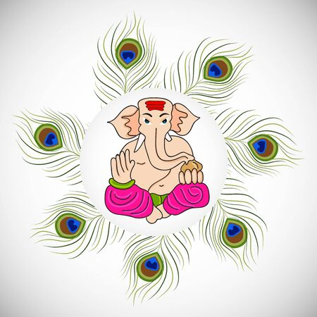 Creative card And poster, background of lord Ganesh for festival of ganesh chaturthi Celebration.