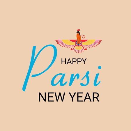Vektor-Illustration eines Hintergrundes oder Posters für Happy Parsi New Year.
