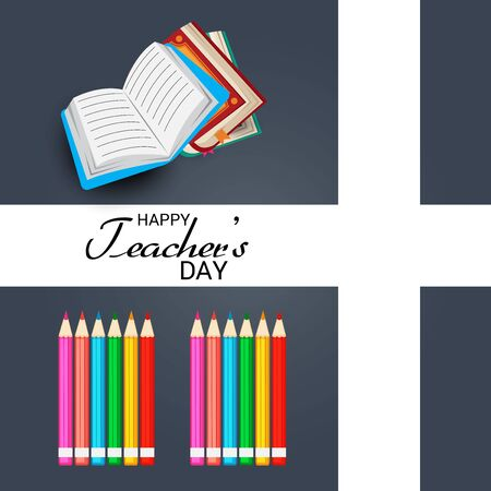 Vector illustration of background with stylish text for Happy Teacher's Day.