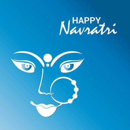 Illustrazione vettoriale di uno sfondo o poster per Happy Navratri.