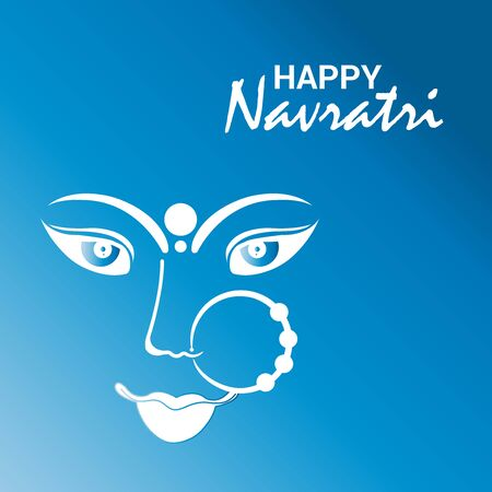 Vector illustration of a background Or poster for Happy Navratri. Stock Vector - 128855414