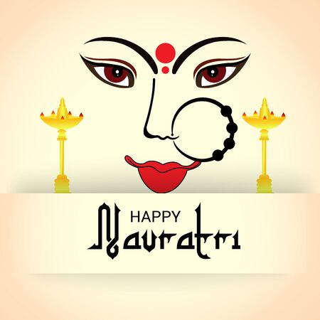 Vector illustration of a background Or poster for Happy Navratri. Stock Vector - 128855483