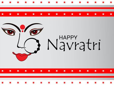 Vector illustration of a background Or poster for Happy Navratri. Stock Vector - 128855485