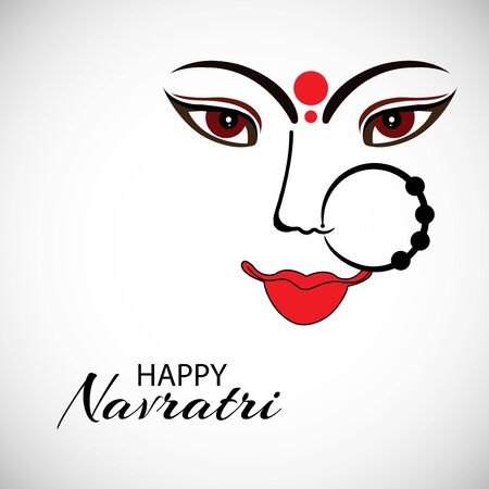 Vector illustration of a background Or poster for Happy Navratri. Stock Vector - 128855492