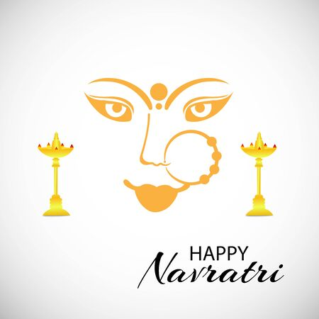 Vector illustration of a background Or poster for Happy Navratri. Stock Vector - 128855491