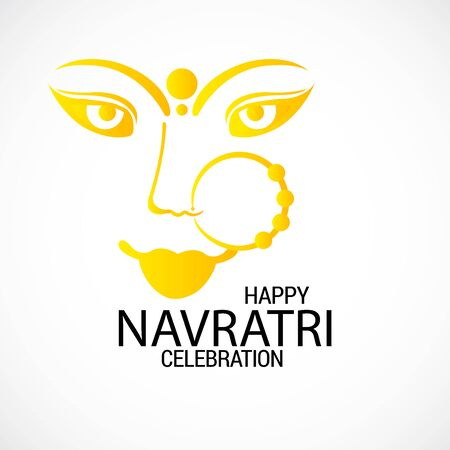 Vector illustration of a background Or poster for Happy Navratri. Stock Vector - 128855494