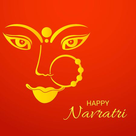 Vector illustration of a background Or poster for Happy Navratri.
