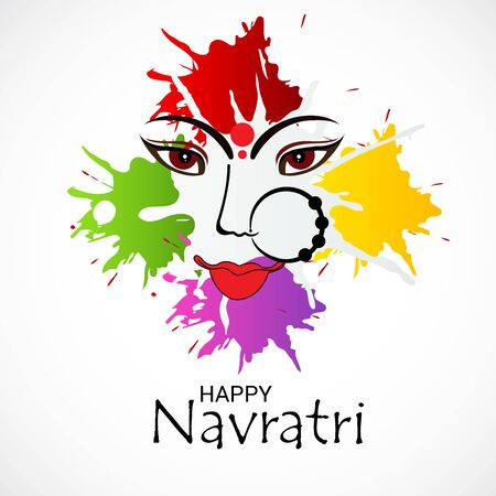 Vector illustration of a background Or poster for Happy Navratri. Stock Vector - 128855501