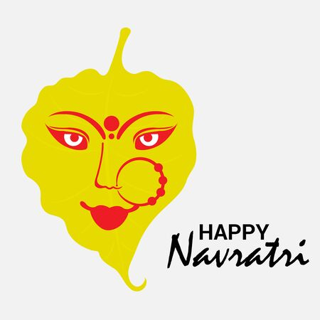 Vector illustration of a background Or poster for Happy Navratri. Stock Vector - 128855511