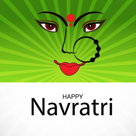 Vector illustration of a background Or poster for Happy Navratri. Stock Vector - 128855509