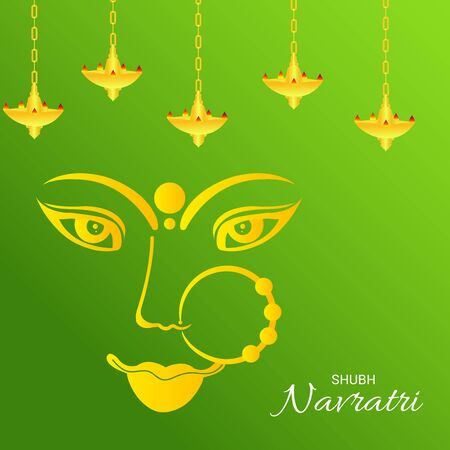 Vector illustration of a background Or poster for Happy Navratri. Stock Vector - 128855510