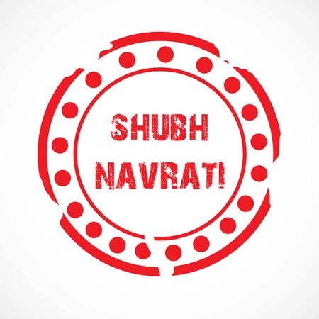Vector illustration of a background Or poster for Happy Navratri. Stock Vector - 128855526