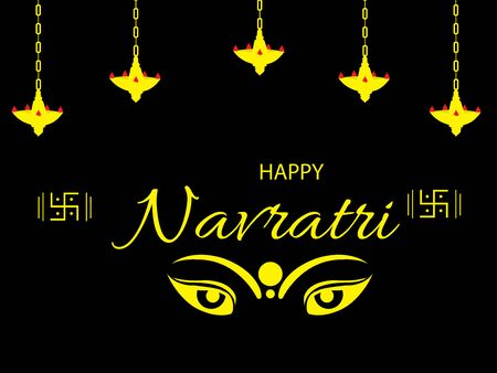 Vector illustration of a background Or poster for Happy Navratri. Stock Vector - 128855534