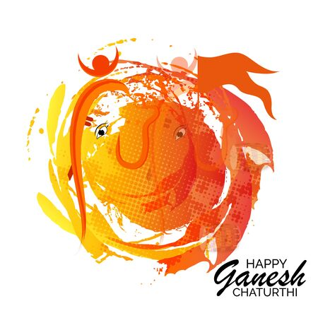 Creative card And poster, background of lord Ganesh for festival of ganesh chaturthi Celebration. Vector Illustration