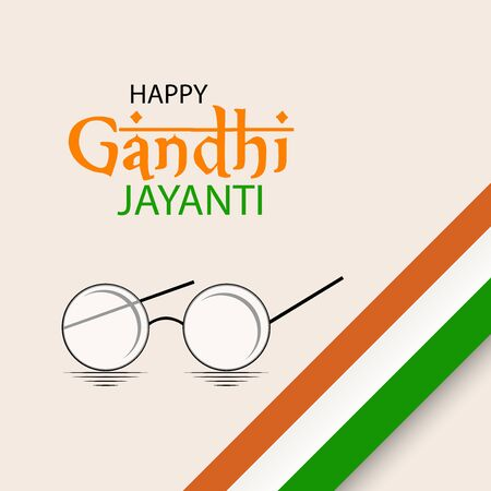 Vector illustration of a background or poster for Happy Gandhi Jayanti or 2nd october.