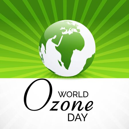 Vector illustration of a background For World Ozone Day.