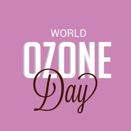 Vector illustration of a background For World Ozone Day. 向量圖像