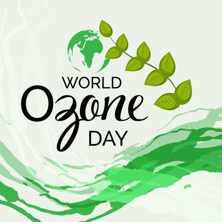 Illustrazione vettoriale di uno sfondo per la Giornata mondiale dell'ozono.