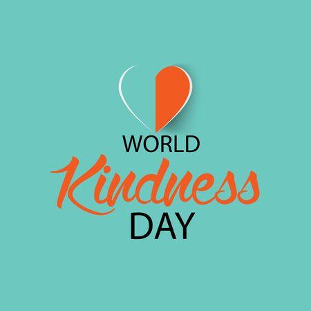Vector illustration of a background or poster for World Kindness Day. Vektoros illusztráció
