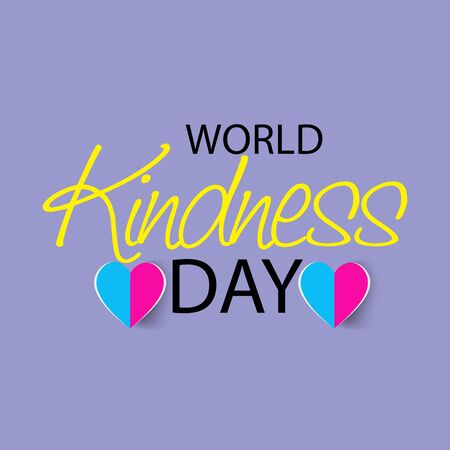 Vector illustration of a background or poster for World Kindness Day. Çizim