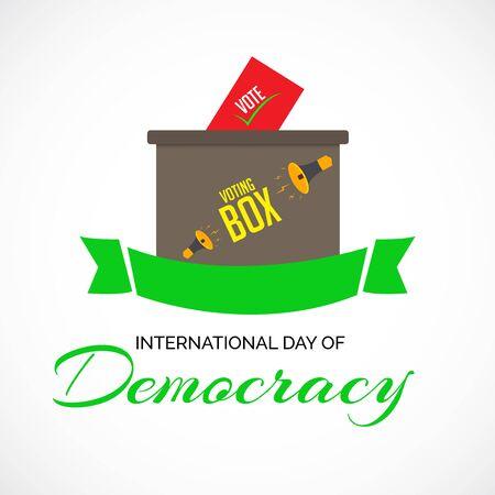 Vector illustration of a background or poster For International Day Of Democracy September 15. Ilustração
