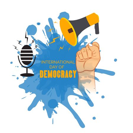 Vector illustration of a background or poster For International Day Of Democracy September 15.