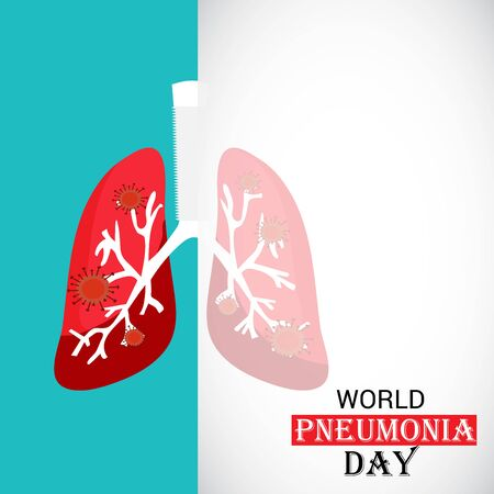 Vector illustration of a Background or Poster for World Pneumonia Day. Vector Illustration
