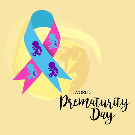 Vector illustration of a Bacckground or Poster for Health care World Prematurity Day. Ilustración de vector