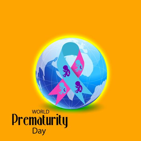 Vector illustration of a Bacckground or Poster for Health care World Prematurity Day. Ilustração