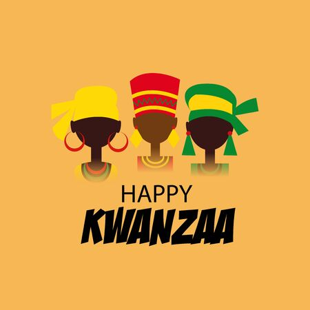 Vector illustration of a background or poster for Happy Kwanzaa.