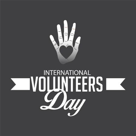 Vector illustration of a background for International Volunteers Day. Illustration