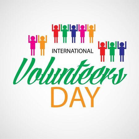 Vector illustration of a background for International Volunteers Day. 版權商用圖片 - 130757466
