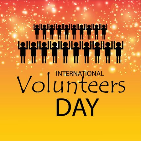 Vector illustration of a background for International Volunteers Day. 版權商用圖片 - 130752382