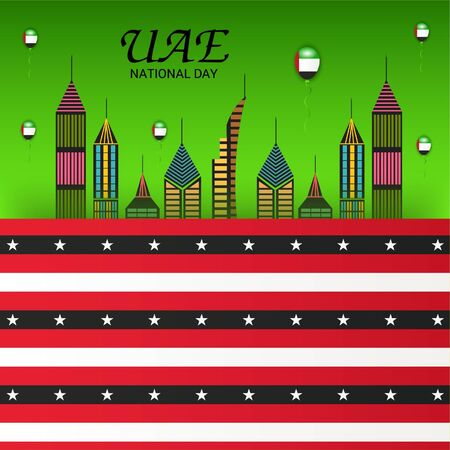 Vector illustration of a background For UAE National Day. Ilustrace