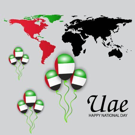 Vector illustration of a background For UAE National Day. Illustration