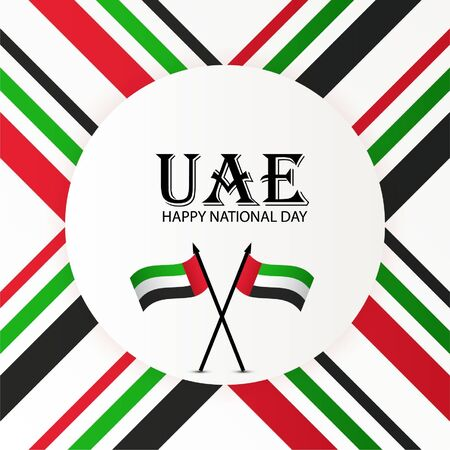 Vector illustration of a background For UAE National Day