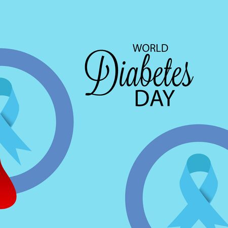 Vector illustration of a Background for World Diabetes Day Awareness. Banco de Imagens - 130750912