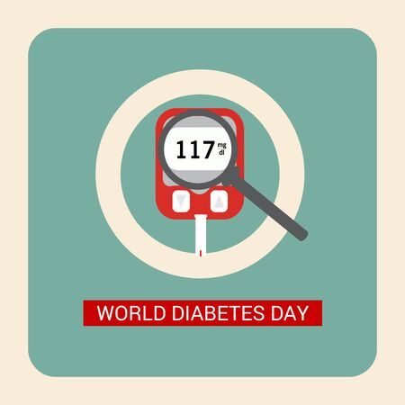 Vector illustration of a Background for World Diabetes Day Awareness. Banco de Imagens - 130750920